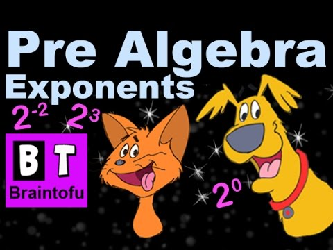 Pre-Algebra Basic Math Cartoon Lesson - Introduction to Exponents