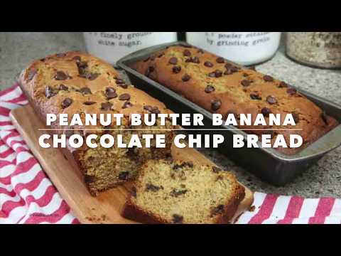 Peanut Butter Banana Bread Recipe with Chocolate Chips