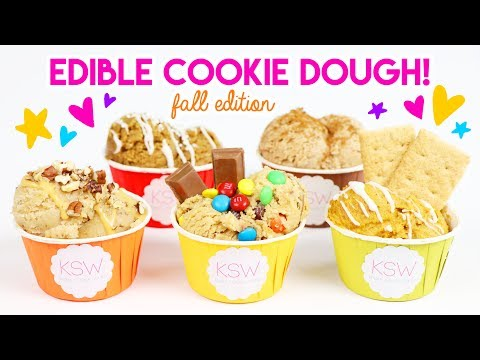 How to Make FIVE MORE Edible Cookie Dough Recipes (Fall Edition 🍁)!
