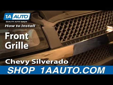 How To Install Replace Remove Front Grille Chevy Silverado 03-07 1AAuto.com