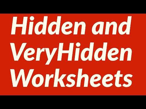 Hidden and VeryHidden Worksheets