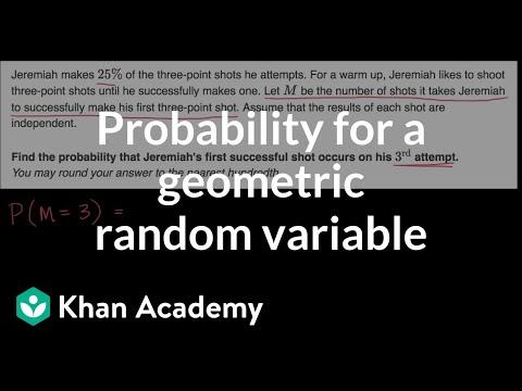 Probability for a geometric random variable