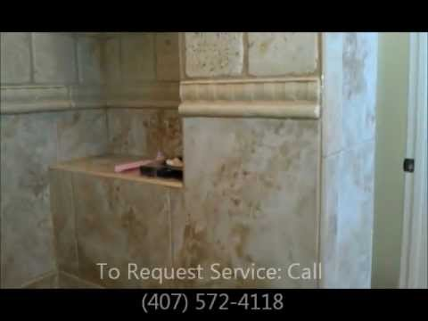 Travertine Tile Shower, Remove Mold with Vapor Steam Cleaner House Cleaning Services