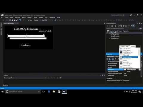 How to make Splash Screen in Visual Studio 2010,2012,2013,2015,2017 VB.NET  Tutorial Flat UI  Design