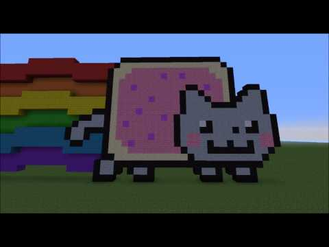 Moving Nyan Cat in Minecraft!