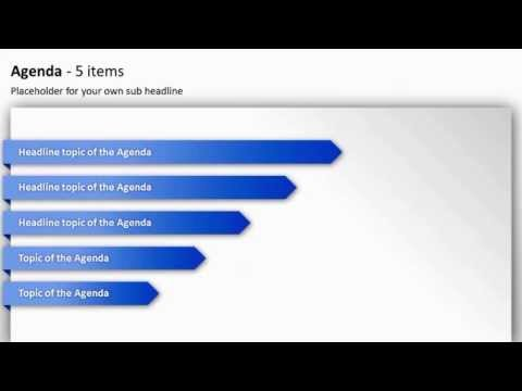 PowerPoint Agenda Toolbox (english version)