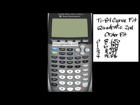 GCT028 TI-84 Curve Fit Quadratic Data