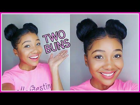Two Buns Hair Tutorial | Double Bunsl!!!