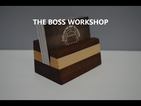 Making a Business Card Holder