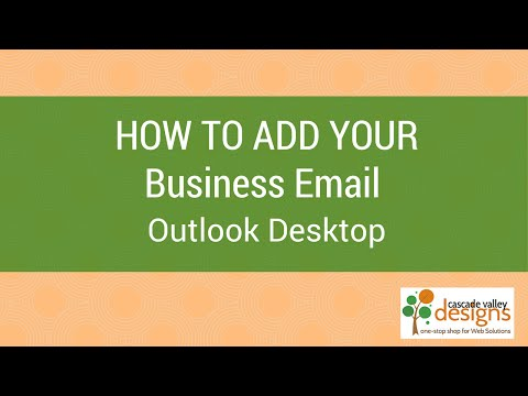 Add Domain Email Account to Outlook (Desktop version), IMAP