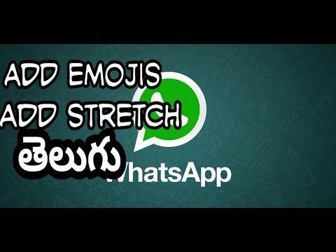 Add emojis and sketch in WhatsApp- Telugu language