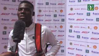 Raymond Ekevwo speaks after claiming Silver in the 100m Junior category at the AFN/MoC Trials