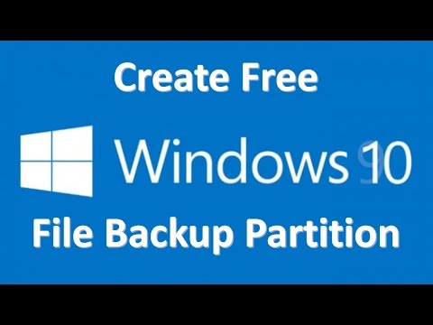 Create A File Backup Partition in Windows 10