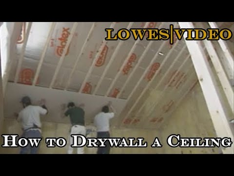 How to Install Ceiling Drywall Screw the Drywall Into the Joists