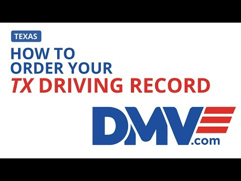 How To Order Your Texas Driving Record | DMV.com