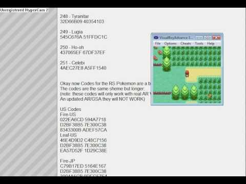 Pokemon FireRed Gameshark Cheat Code:Catch any Kanto or Johto Pokemon!