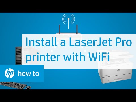 Setting Up and Installing an HP LaserJet Pro Touchscreen Printer with a Wireless Connection