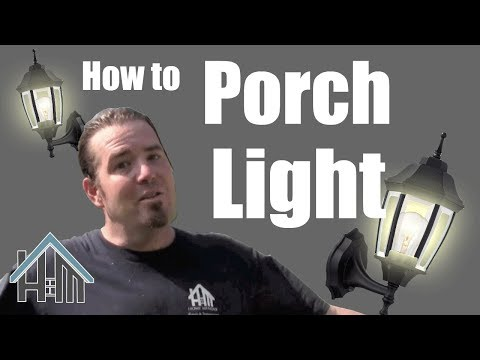 how to install replace exterior porch light lantern. Easy! Home Mender