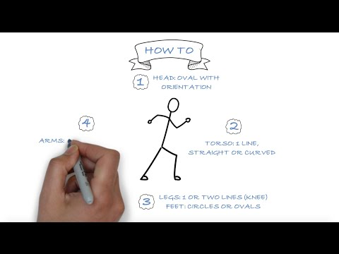 How To Draw Stick Figures That Express Verbs