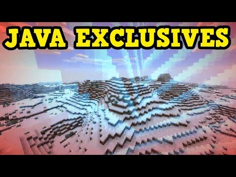 Minecraft Java Exclusive Features