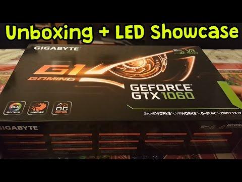 Gigabyte G1 Gaming GTX 1060 Unboxing/Showcase + Lighting Test