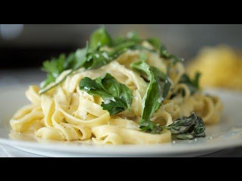 Fettuccini with Lemon Garlic Cream | Byron Talbott