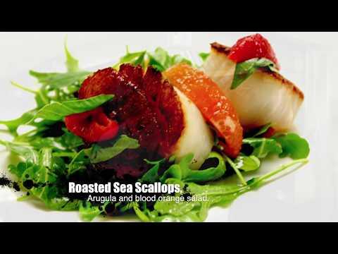 Roasted Sea Scallops with Arugula and Blood Orange