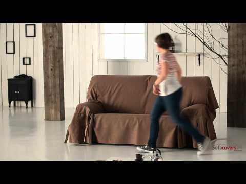 How to install a sofa cover with ties