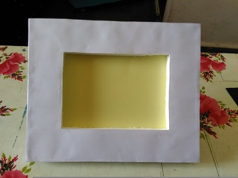 How to make easy photo frame    card board and thermocol photo frame    basic photo frame