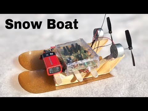 How to Make a RC Snow Boat (Electric Snowmobile)