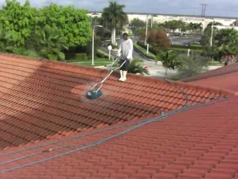 How to pressure clean tile roofs at up to 2,500 sq. ft. per hour. Dan Swede 800-666-1992