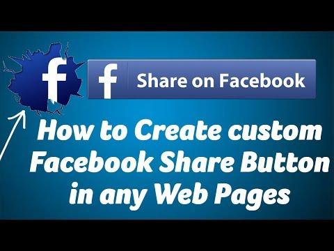 How to Create custom Facebook Share Button
