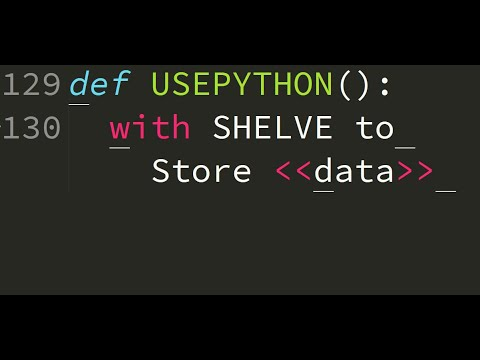 Python: use of shelve to store data