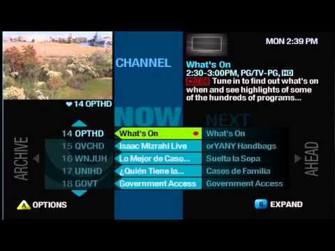 Tutorial: Recording with Multi-Room DVR from Optimum