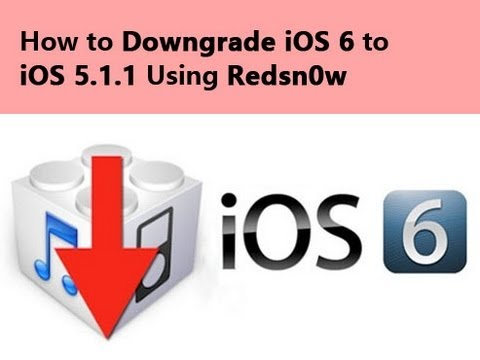 How to downgrade iOS 6 to iOS 5.1.1 On A4 Devices