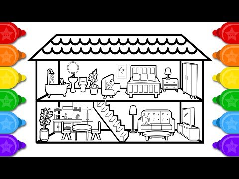 Xxx Mp4 Coloring House Colouring Page Learn Colors Coloring And Drawing For Kids 3gp Sex