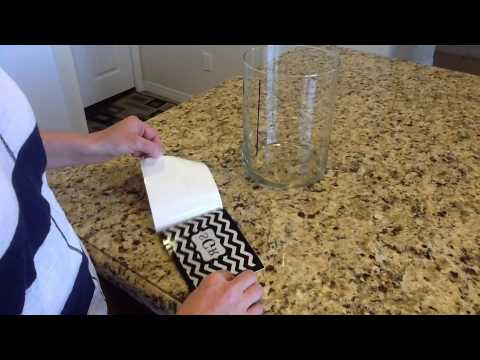 How To Apply A Vinyl Decal To A Glass Vase