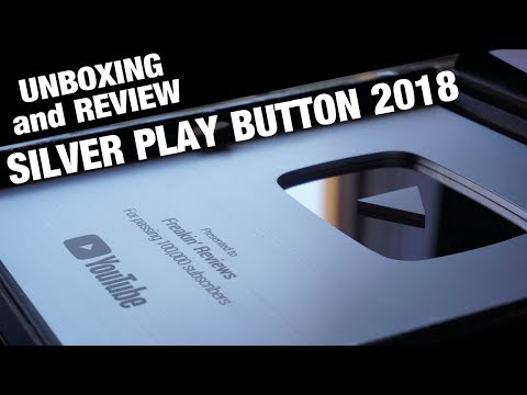 The New 2018 Silver Play Button: Review and Unboxing