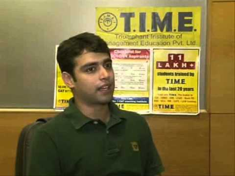 Akshay, T I M E  Student Selected into IIM Lucknow Through CAT '12