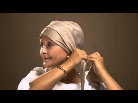 How to tie a designer chemo headscarf by Christine Headwear