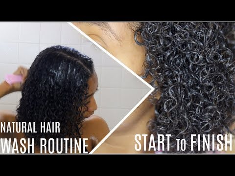 Natural Hair WASH DAY ROUTINE (Start to Finish)  Tatyana Celeste ❤︎