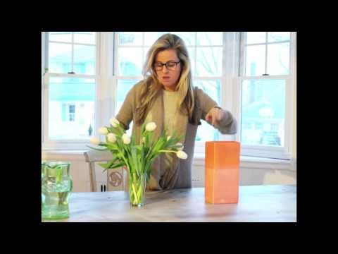 Tulip Tip: Arranging Tulips in a Tall Vase