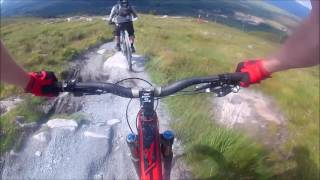 Fort Willaim - DH - YT Capra Pro Race - 2016 - POV - Downhill - Crash