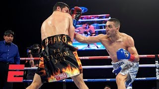 Teofimo Lopez knocks out Diego Magdaleno, goes nuts with celebration | Top Rank Boxing Highlights