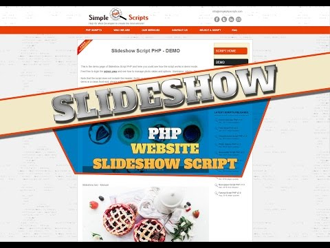 How To Add A Slideshow To Your Website - Php Slideshow