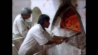 Iran :: Sangak سنگک bread factory in Shiraz شیراز