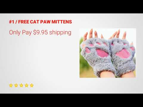 FREE Plush Cat Paw Gloves