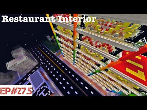 Minecraft   Building A City   #27.5   Restaurant Interior
