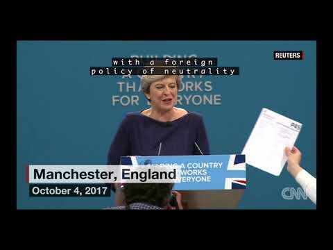 "UK Prime Minister Theresa May ""British Dream"" Gag Speech"