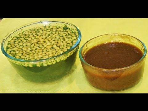 Pani for Pani Puri | Cooking | Tikha Pani | Khatta Meetha Pani for Pani Puri by madhurasrecipe